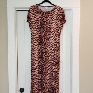Cheetah Print Lularoe Maxi Dress